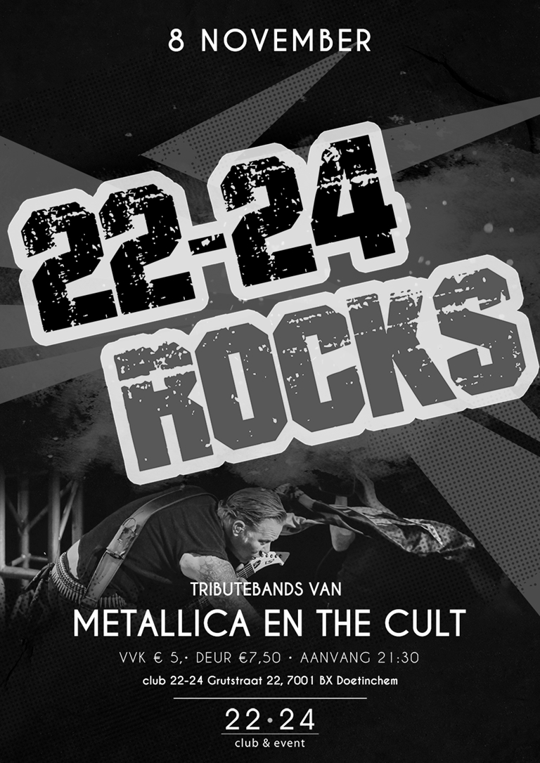 22-24 rocks! X Metallica & The Cult Tributes