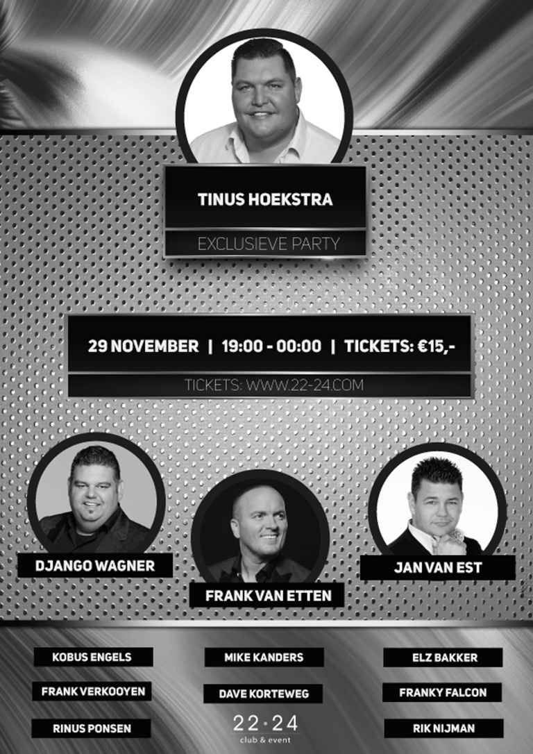 Tinus Hoekstra Exclusieve Party (SOLD OUT)